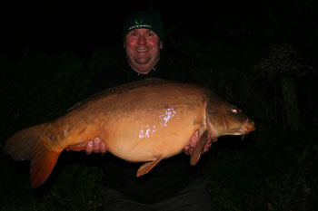 a winter mirror caught after dark