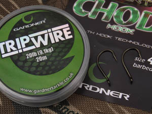 Trip wire and chod hooks