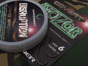 Disruption hooklength material and size 6 Covert Incizor hooks