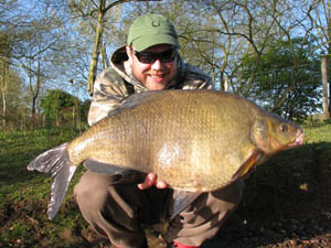 10lb 4oz bream - the first of a number of doubles which fell to Sam's rods