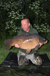 33lb 4oz mirror, what a cracking fish