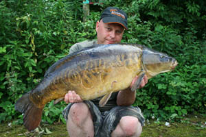 Few would be disappointed with a scaley carp like this